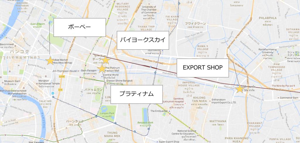 バンコク卸売場地図